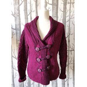 //VINTAGE// Purple Merino Wool Sweater